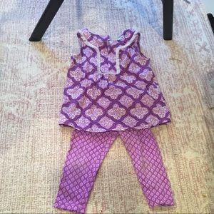 Purple Carter's matching summer set 3T